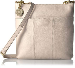 Tommy Hilfiger Th Signature Pebble Leather Crossbody - Cream