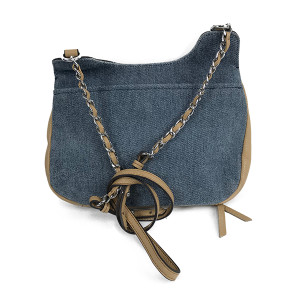 Aimee Kestenberg Pebble Leather Crossbody -Denim
