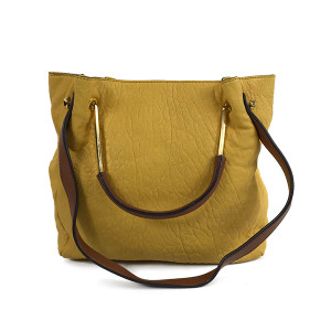 orYANY Lamb Leather Convertible Satchel-Yellow