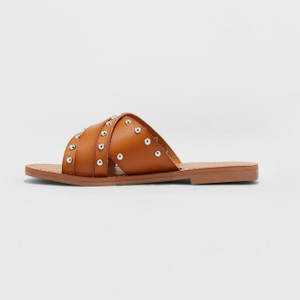 Women's Kellan Studded Crossband Slide Sandals