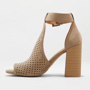 Women's Hannah Laser Cut Heeled Pump Sandals