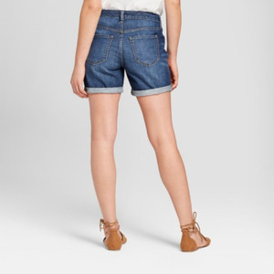 Women's Mid-Rise Roll Cuff Boyfriend Jean Shorts - Universal Thread 00