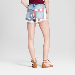 Women's High-Rise Stars and Stripes Shorts - Mossimo