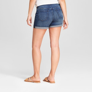Isabel Maternity by Ingrid & Isabel Maternity Crossover Panel Midi Jean Shorts