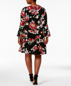 Connected Plus Size Ruffled Drop-Waist Dress