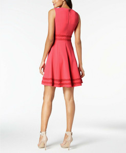 Calvin Klein Sleeveless Corded Fit & Flare Petite Dress