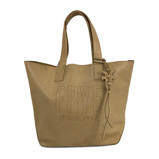 Frye Leather Perforated Logo Unlined
