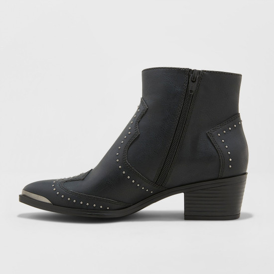 Women's Sariah Faux Leather Studded Western Bootie