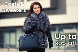 Coats & Sweaters Up to 80% Off