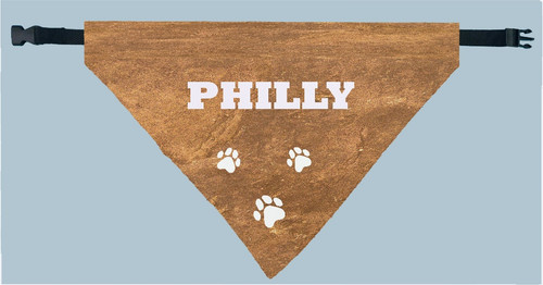 Personalized Pet Scarf -  Faux Leather Print