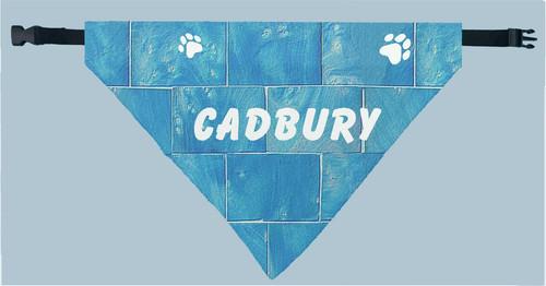 Personalized Pet Scarf -  Blue Tile Print