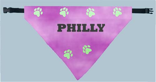 Personalized Pet Scarf -  Purple Plasma Print