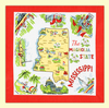 Mississippi Map Towel