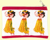 Hula Girls Canvas Case