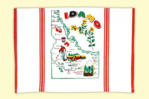 Idaho  Map Towel
