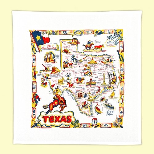 Texas  Map Towel