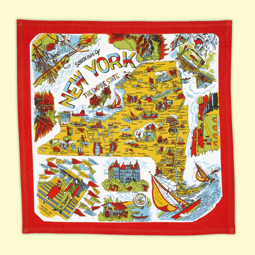 NY State Map Towel