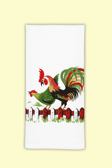 Henpecked Towel, roosters