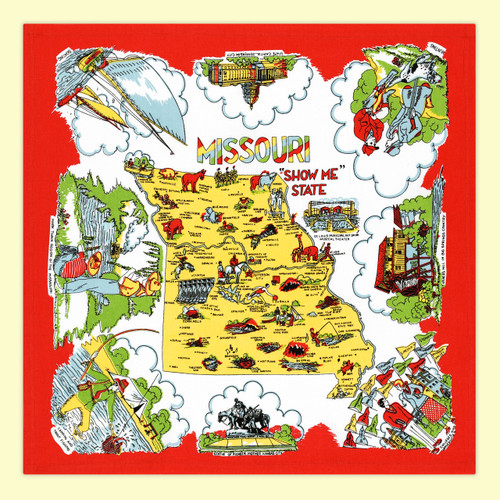 Missouri Map Towel