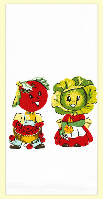 Mr. & Mrs. Veggie Towel