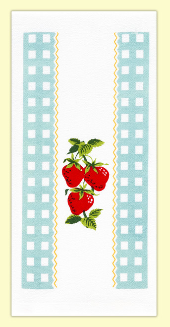 Strawberry Time  Towel, gingham