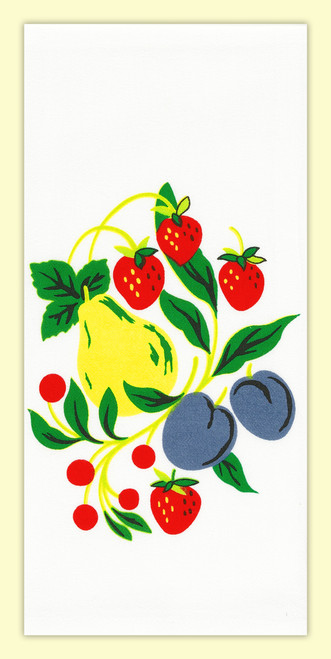 Fruitgroup Towel, pears, apples, plums, strawberries, cherries