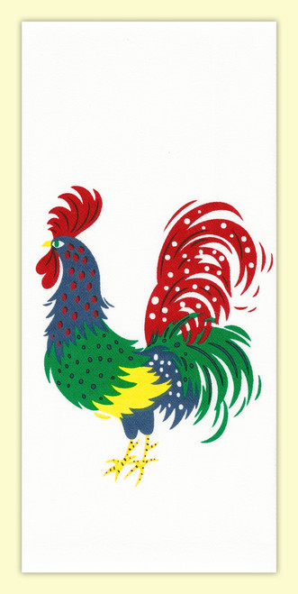 Midcentury Mr. Bird Towel, rooster