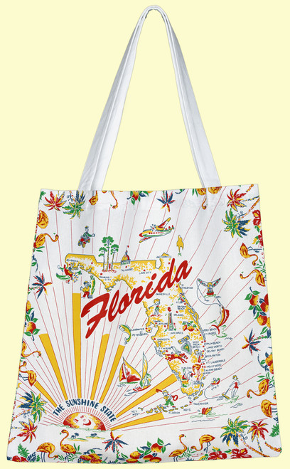 Florida Map Tote, Medium
