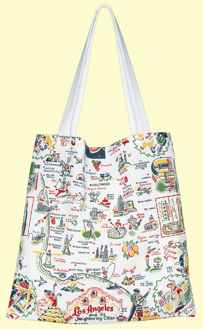 Los Angeles Map Tote