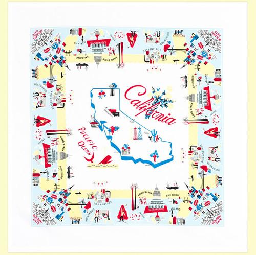 California Vibe Map Towel