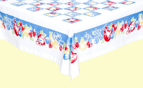 Fanciful Fruit Tablecloth
