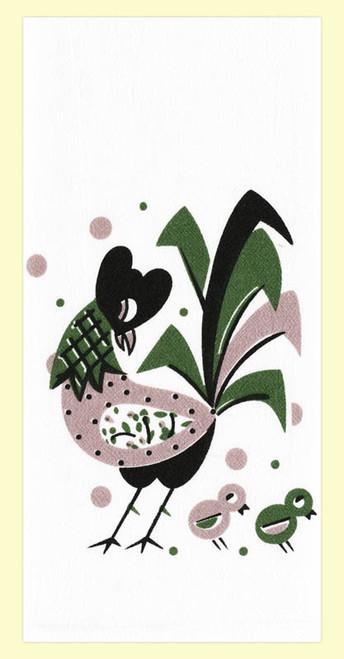 Midcentury Jazzy Rooster Towel