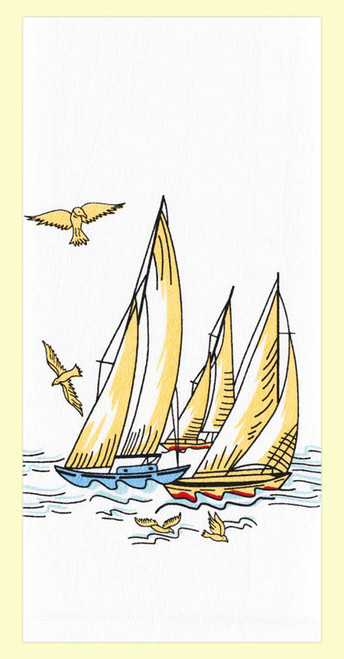 Wind in Your Sails Towel, sailboats