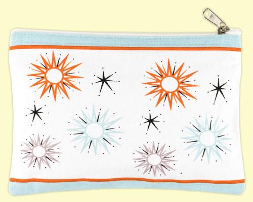 Starburst Canvas Case, midcentury