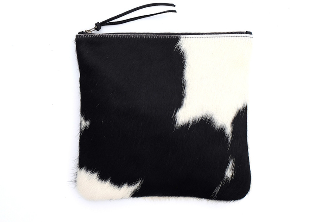 Black and White Fold-over Clutch
