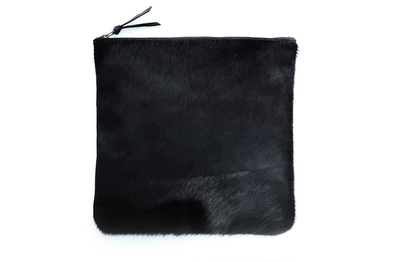 Black Fold-over Clutch