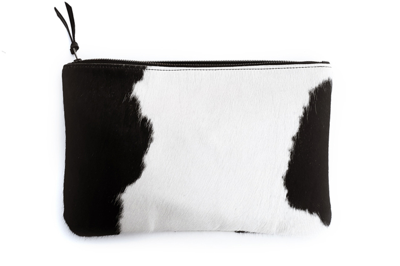 Black + White Oversized Clutch