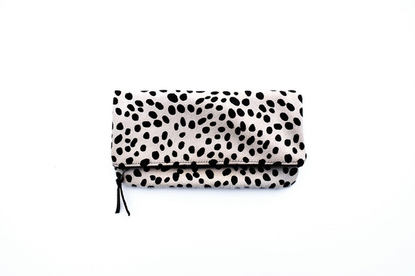 Spotted Fold-over Clutch