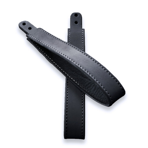 Durastrap Assist Hand Straps for Beetles (Pair) - 1967 and Up - Midnight Black Bison Leather