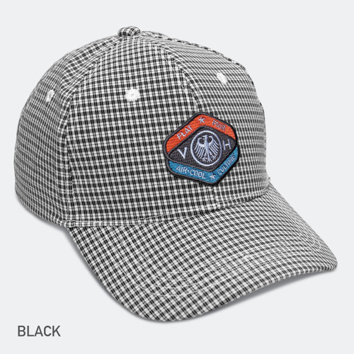 LIMITED EDITION VDH MASCOT GINGHAM BREEZER CAP-Black