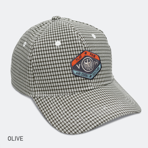 LIMITED EDITION VDH MASCOT GINGHAM BREEZER CAP-Olive