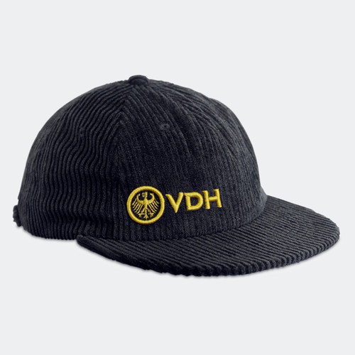 Limited Edition VDH Black Thick Corduroy Hat