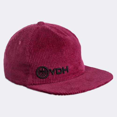 Limited Edition VDH Burgundy Thick Corduroy Snapback Dad Hat