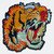 Mystic Tiger Head Large Embroidered Sew On Patch