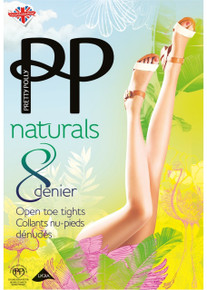 Pretty Polly Pretty Polly Naturals 8 Denier Open Toe Tights