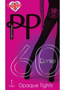 Pretty Polly Pretty Polly 60 Denier 3D Opaque Tights