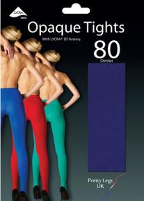 Pretty Legs Pretty Legs 80 Denier Luxury Coloured Opaque Tights