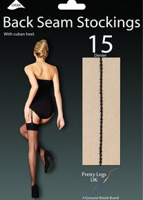 Pretty Legs Pretty Legs Luxury 15 Denier Back Seam Stockings