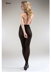 Miss Naughty Miss Naughty 100 Denier Blackout Opaque Crotchless Tights
