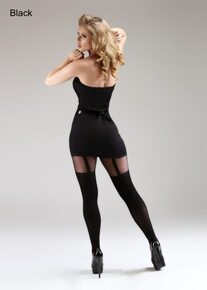 Miss Naughty Miss Naughty Mock Suspender Crotchless Tights